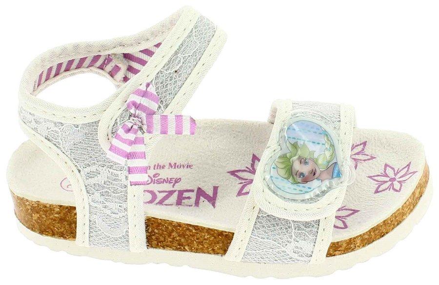 Bílé dětské dívčí sandály Disney by Arnetta