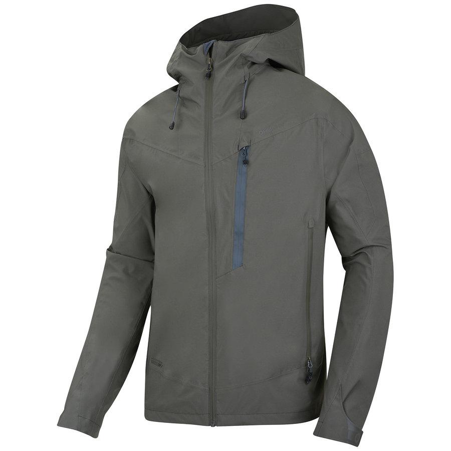 Khaki hardshellová pánská bunda Husky