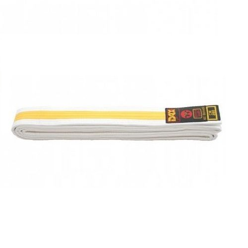 Bílo-žlutý judo pásek Dax