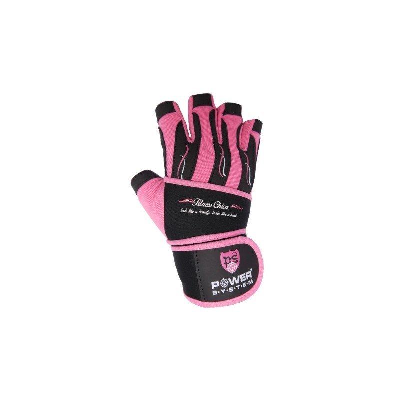 Růžové dámské fitness rukavice Power System - velikost XS