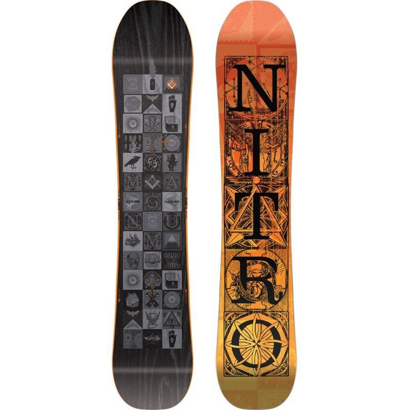 Černý snowboard bez vázání Nitro - délka 159 cm
