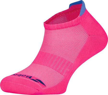Růžové kotníkové dámské tenisové ponožky  Babolat