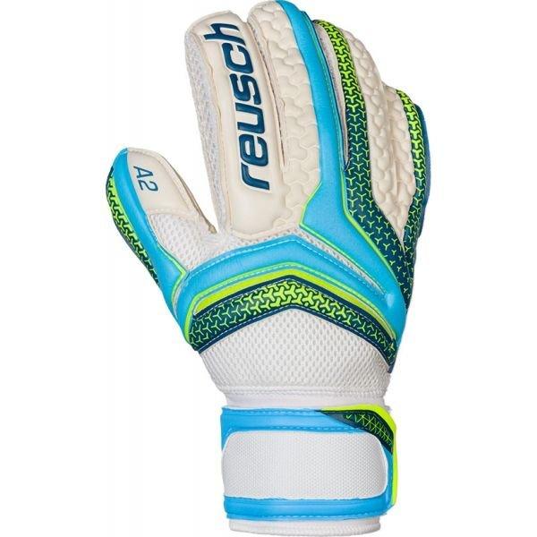 Bílo-modré pánské brankářské fotbalové rukavice Reusch
