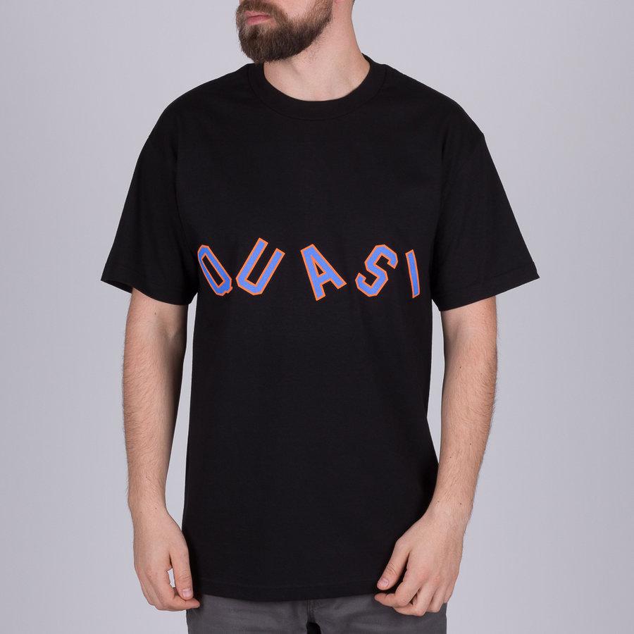 Černé pánské tričko s krátkým rukávem s potiskem Charlie Black, Quasi