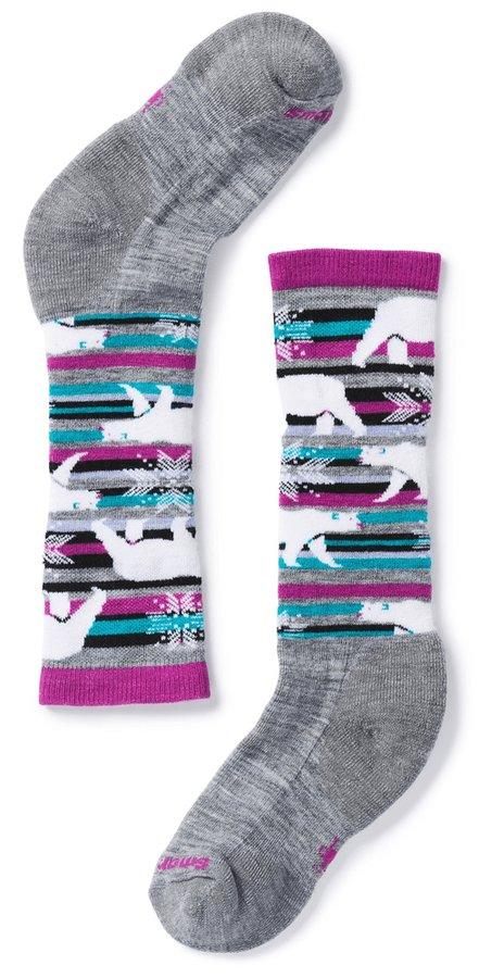 Šedé dětské lyžařské ponožky SmartWool
