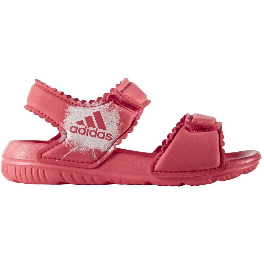 Růžové dětské sandály Adidas