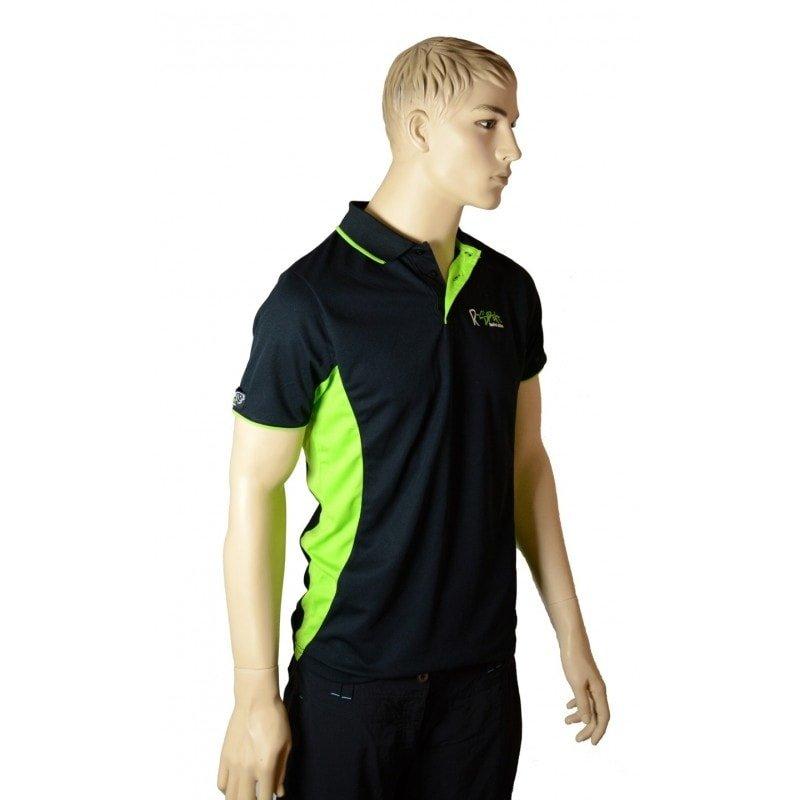 Rybářské tričko - R-spekt Polokošile black lime