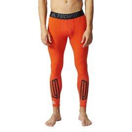 Oranžové pánské legíny Adidas - velikost XL