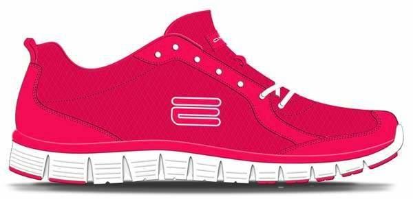 Červené dámské běžecké boty flex V5, Oxide - velikost 36 EU