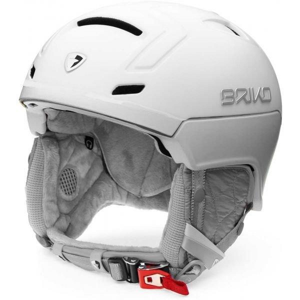 Bílá dámská lyžařská helma Briko