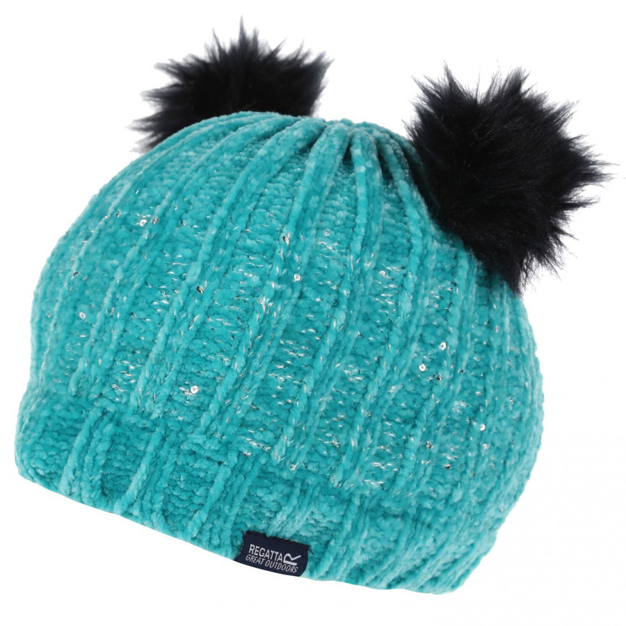 Tyrkysová dětská zimní čepice Regatta