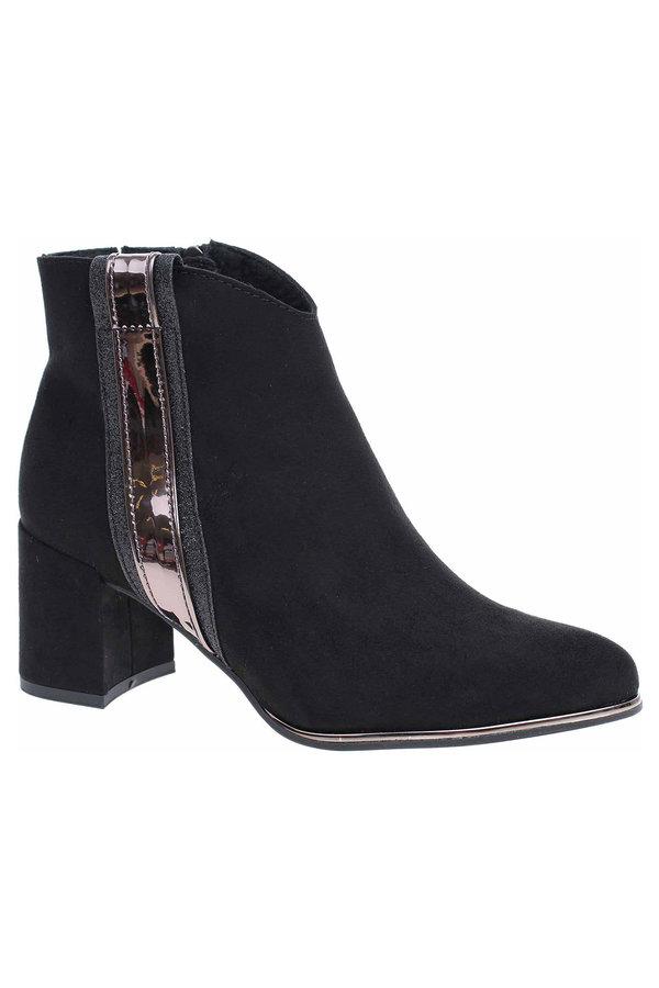 Černé dámské zimní boty Marco Tozzi