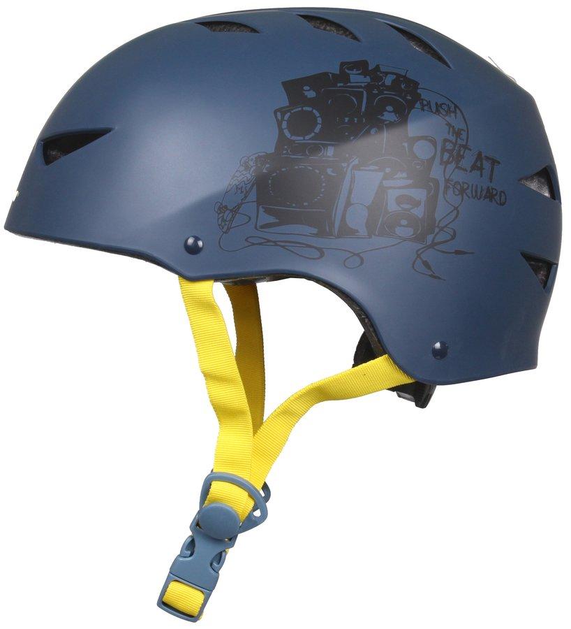 Cyklistická helma - Nijdam Deluxe modrá-žlutá S