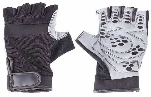 Černo-šedé fitness rukavice Merco - velikost L