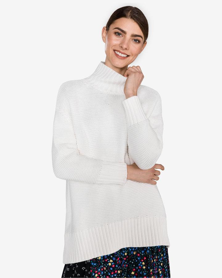 Bílý dámský svetr French Connection - velikost M