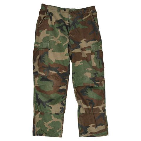 Kalhoty - Kalhoty US BDU POLY polní WOODLAND