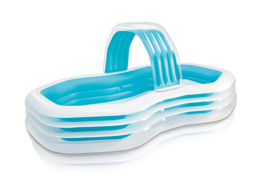 Dětský nadzemní nafukovací obdélníkový bazén INTEX - délka 310 cm, šířka 188 cm a výška 130 cm