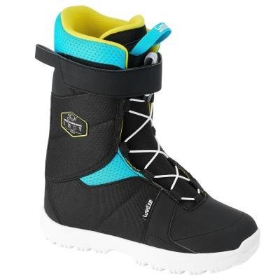 Černé dětské boty na snowboard Wed'ze