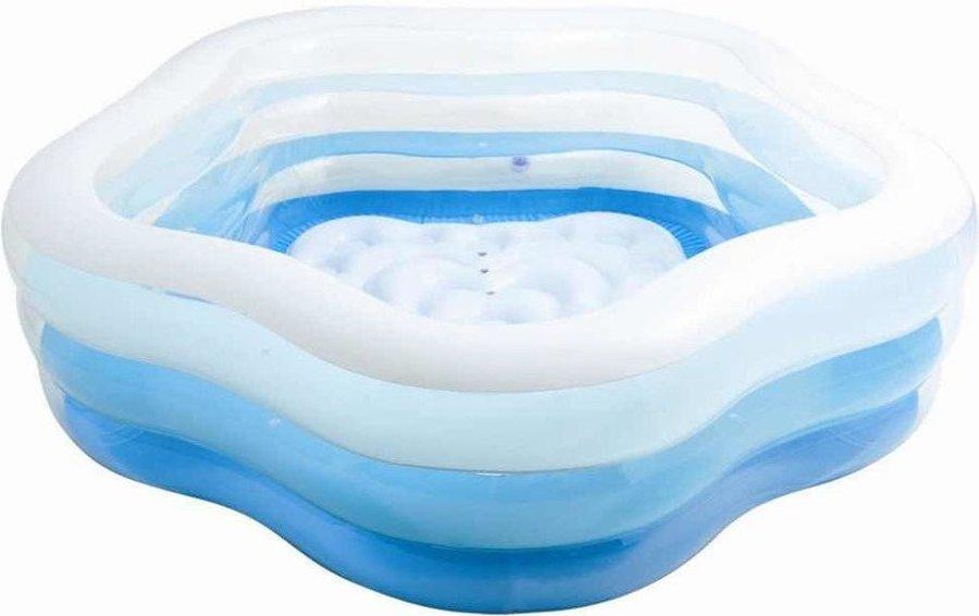 Nadzemní nafukovací dětský pětiúhelníkový bazén INTEX - objem 466 l, délka 185 cm, šířka 180 cm a výška 53 cm