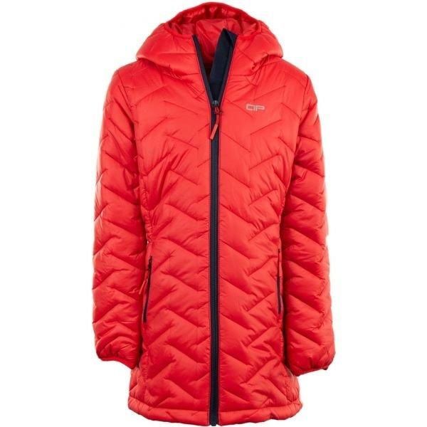 Červený dívčí kabát Alpine Pro