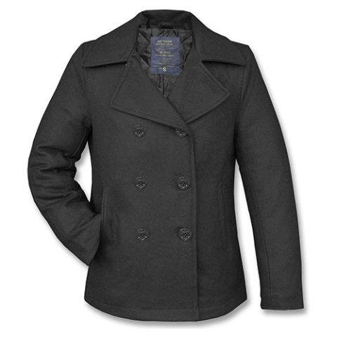 Kabát - Kabát US PEA COAT vlněný ČERNÝ