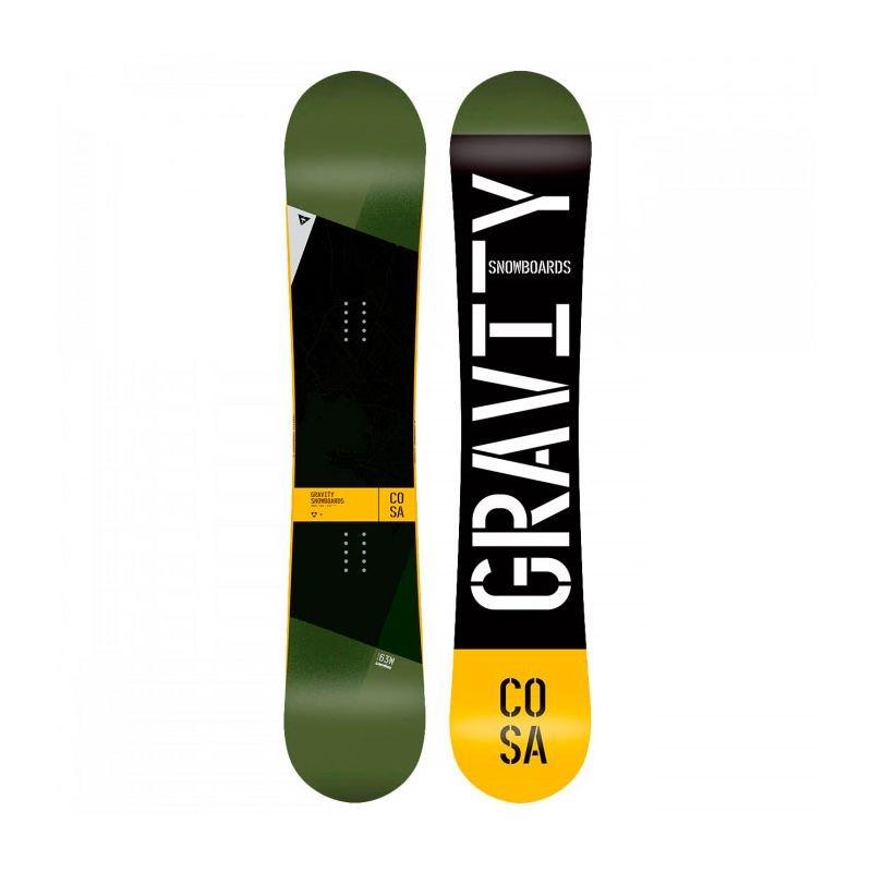 Černý snowboard bez vázání Gravity - délka 156 cm