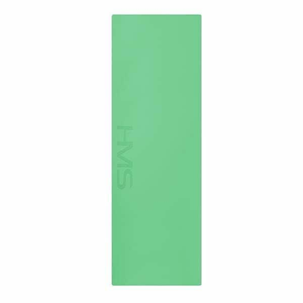 Zelená podložka na jógu HMS - délka 180 cm a tloušťka 0,5 cm
