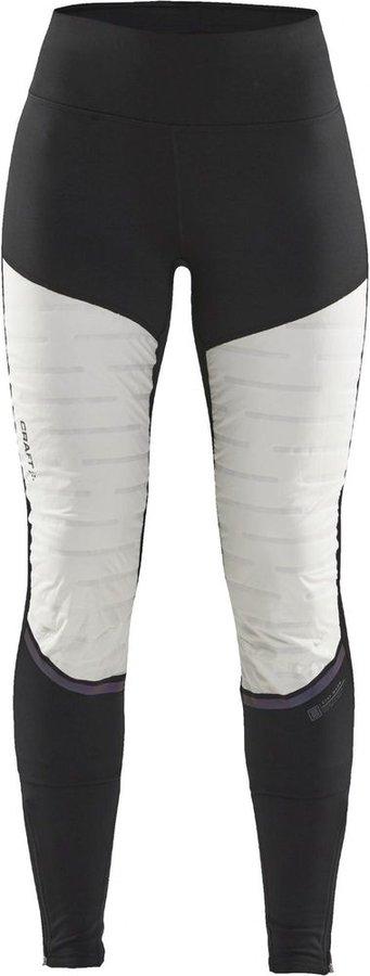 Bílo-černé dámské kalhoty na běžky Craft