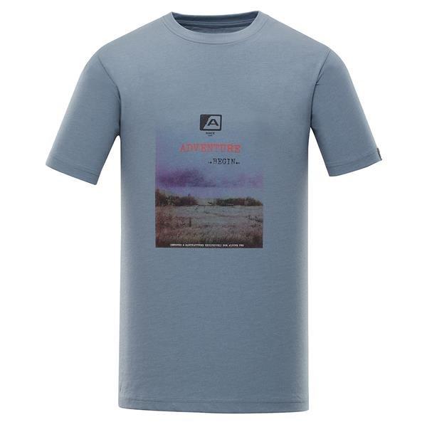 Modré pánské tričko s krátkým rukávem Alpine Pro - velikost M