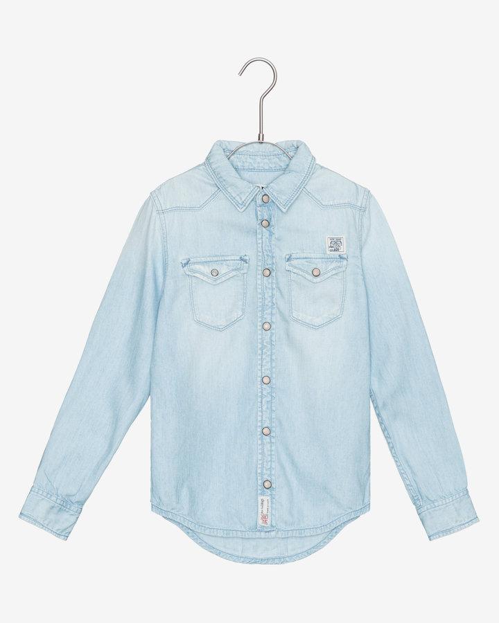 Modrá dětská chlapecká košile s dlouhým rukávem Pepe Jeans - velikost 128