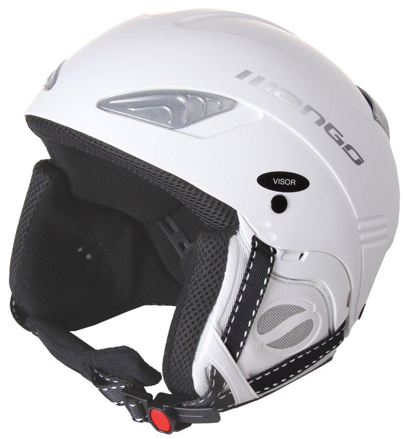 Bílá lyžařská helma Wind Free, Mango - velikost 53-55 cm