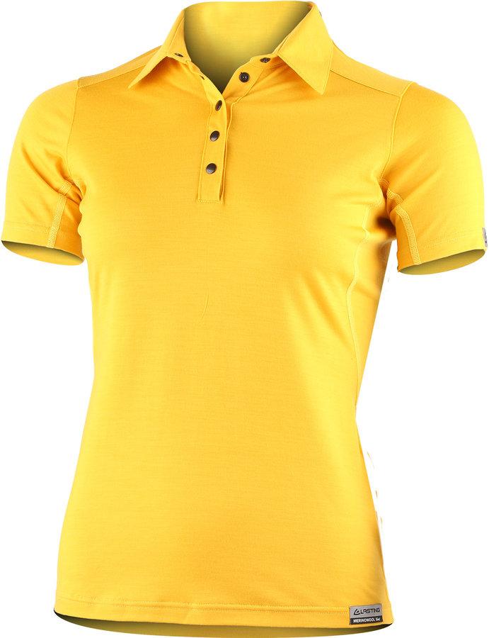 Žluté dámské tričko s krátkým rukávem Lasting - velikost L