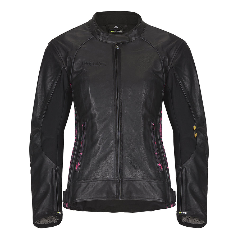 Černo-růžová dámská motorkářská bunda Caronina NF-1174, W-TEC