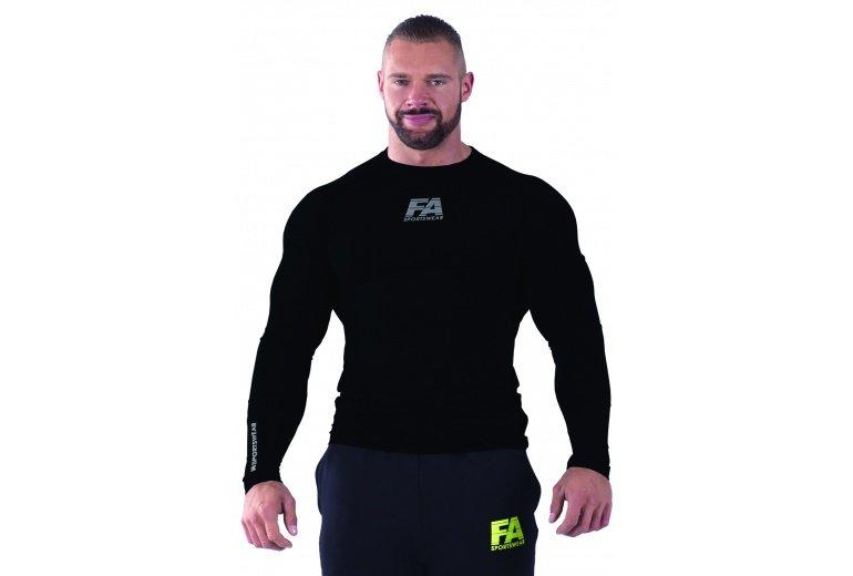 Černé pánské tričko s dlouhým rukávem Fitness Authority