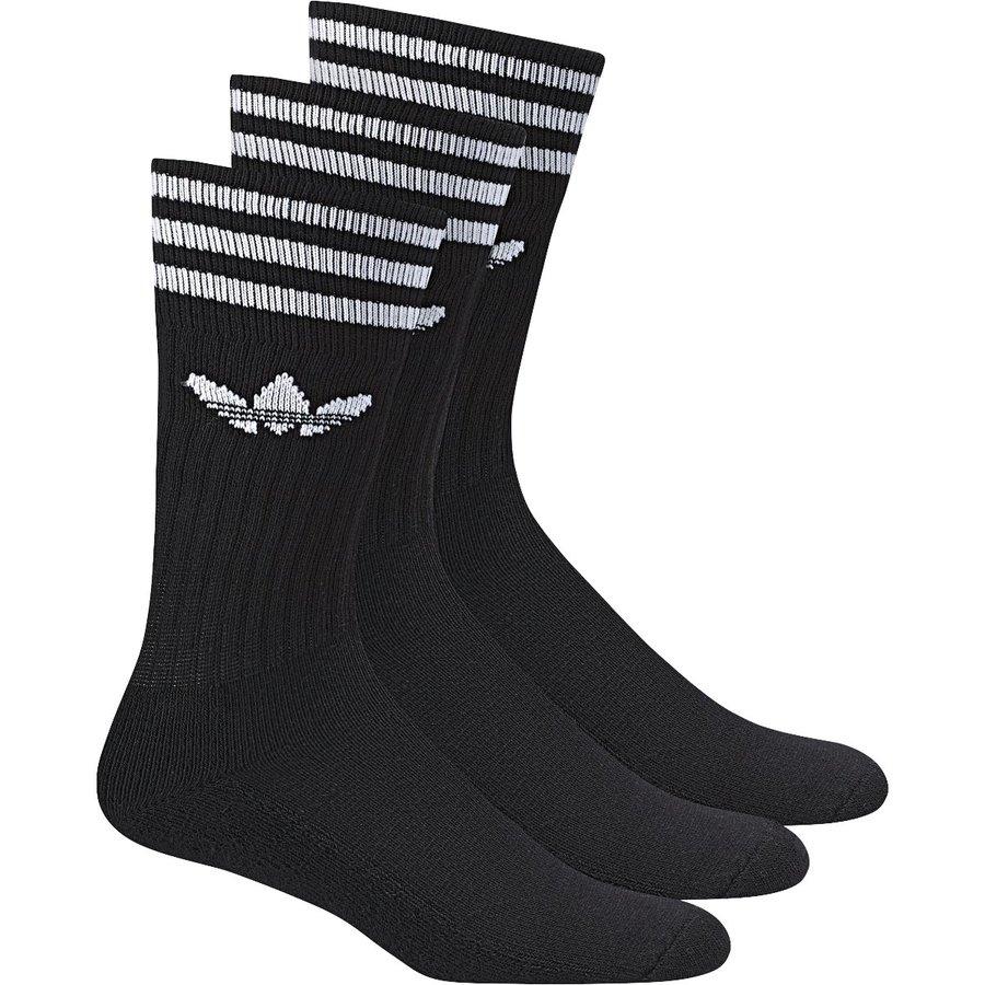 Černé pánské ponožky Adidas - velikost 27-30 EU