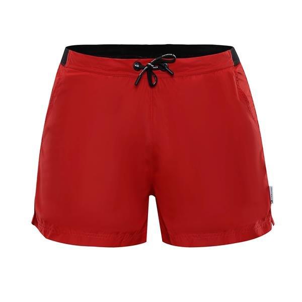 Červené sportovní pánské plavky Hinat, Alpine Pro - velikost XXL, Červené sportovní pánské kraťasy Hinat, Alpine Pro - velikost XXL