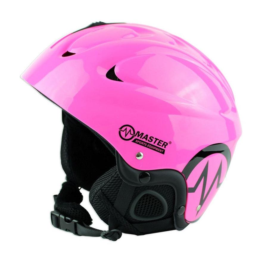 Růžová lyžařská helma Master