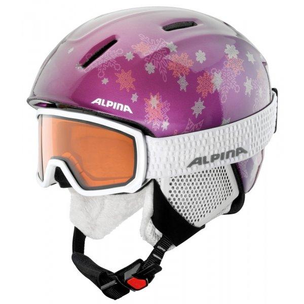 Lyžařské brýle - Alpina Sports SCARABEO JR DH bílá NS - Juniorské lyžařské brýle