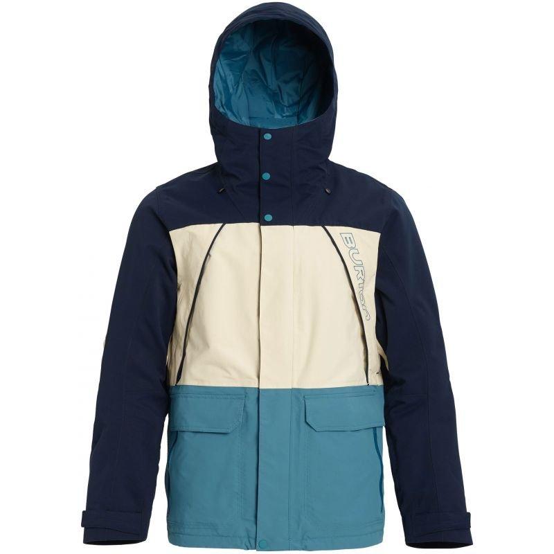 Modrá pánská snowboardová bunda Burton - velikost M