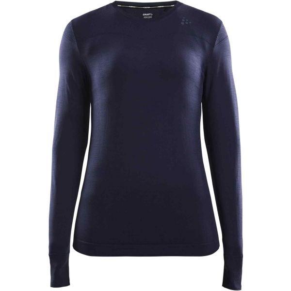 Modré dámské funkční tričko s dlouhým rukávem Craft