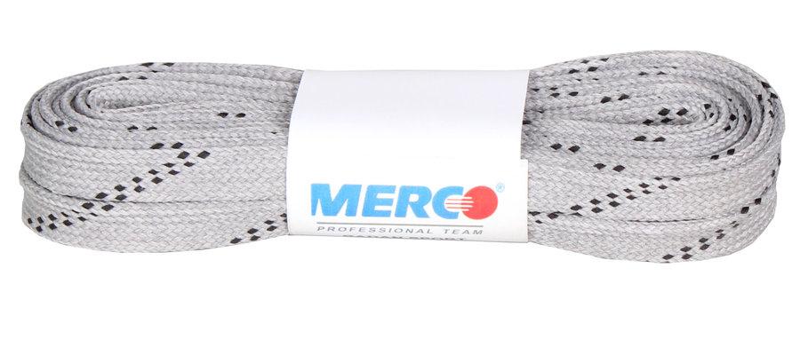 Šedé tkaničky do hokejových bruslí Merco - délka 240 cm