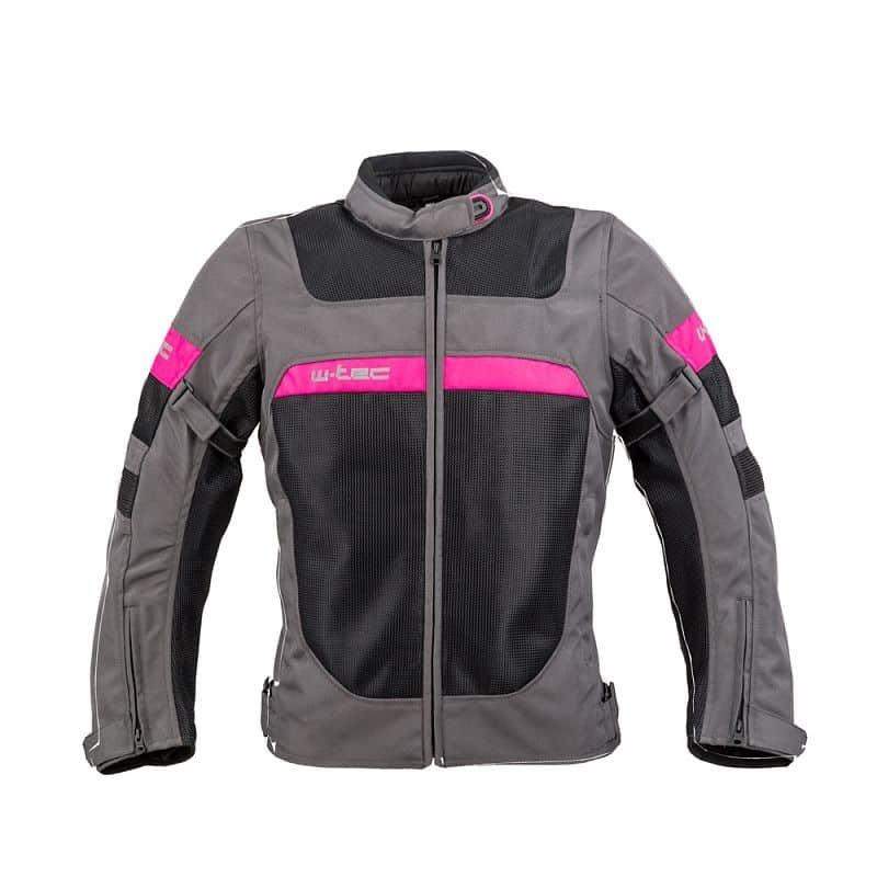Černo-šedá dámská motorkářská bunda Monaca, W-TEC