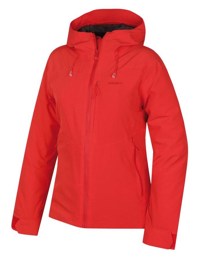 Červená hardshellová dámská bunda Husky - velikost M