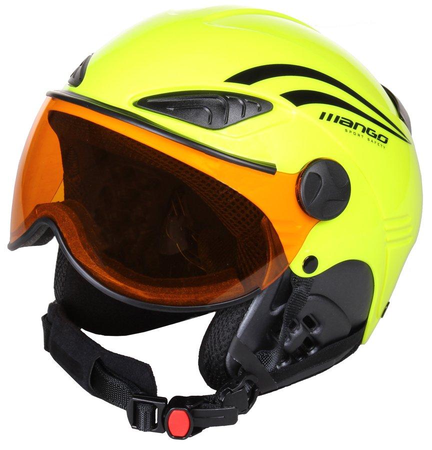 Žlutá dětská lyžařská helma Rocky PRO, Mango - velikost 53-55 cm