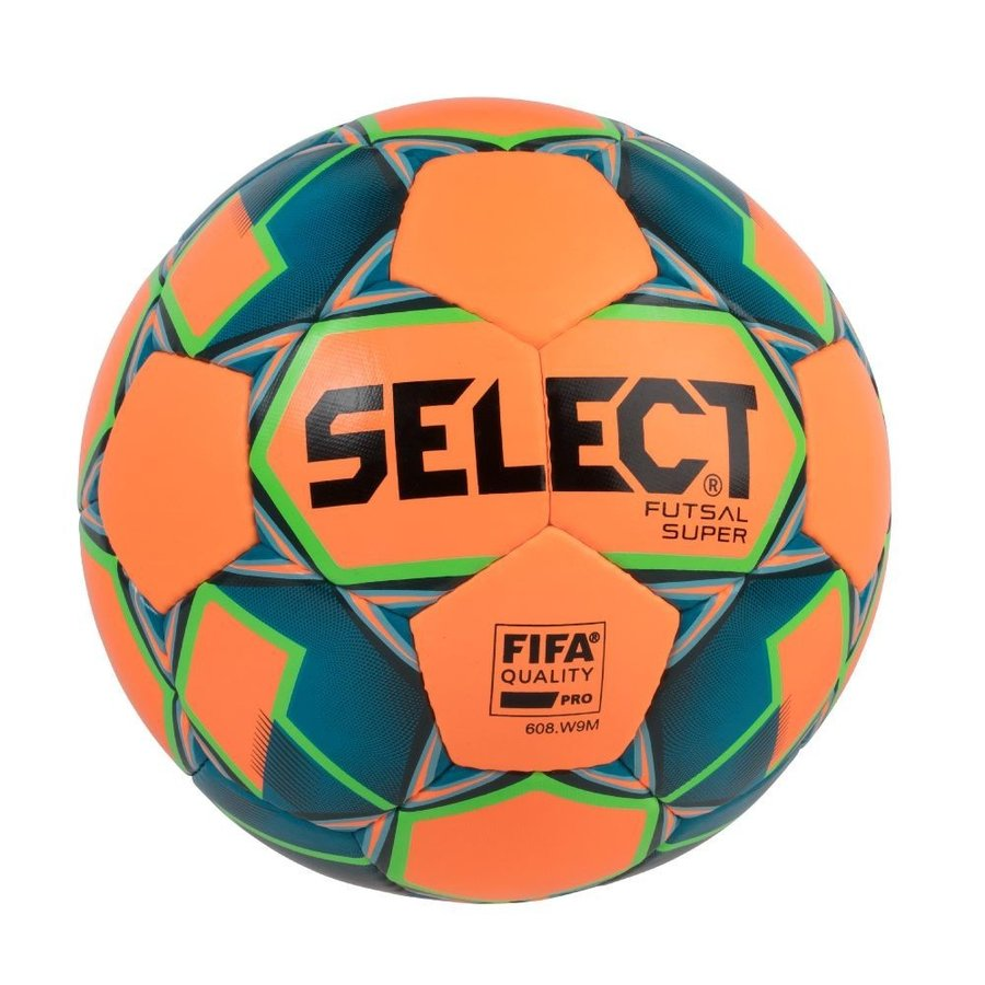 Modro-oranžový futsalový míč FB Futsal Super, Select - velikost 4