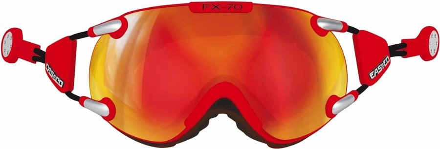 Lyžařské brýle - Casco FX70 Carbonic - red-orange M
