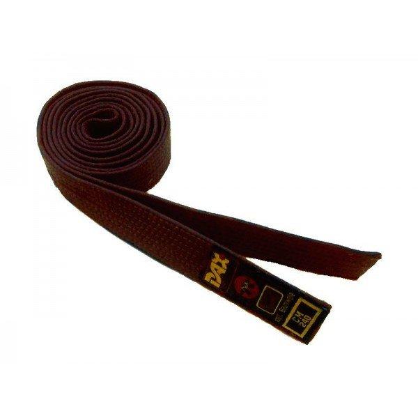Hnědý judo pásek Dax - délka 260 cm