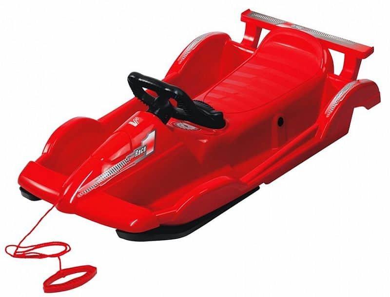 Červené dětské boby s volantem AlpenGaudi