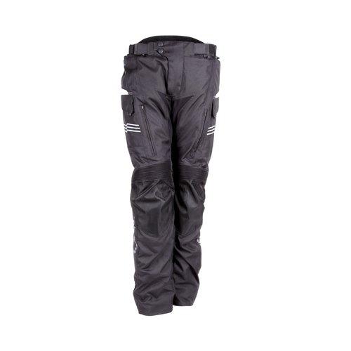 Černé pánské motorkářské kalhoty Cubby II, Rebelhorn