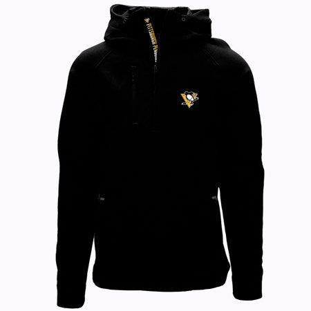 """Černá pánská mikina s kapucí """"Pittsburgh Penguins"""", Levelwear - velikost S"""